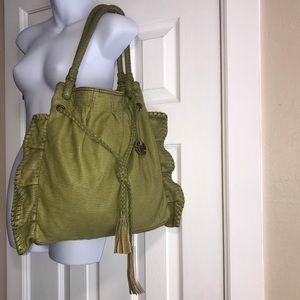 Red Ecko Unlimited Olive Ruffle BOHO Shoulder Bag